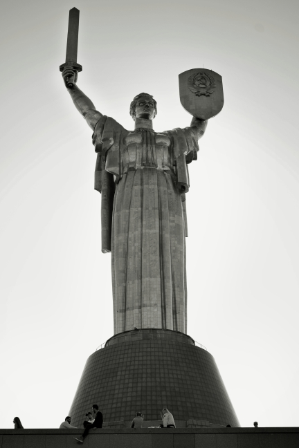 The Motherland Monument, part of the WWII museum.