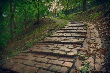 Steep passage